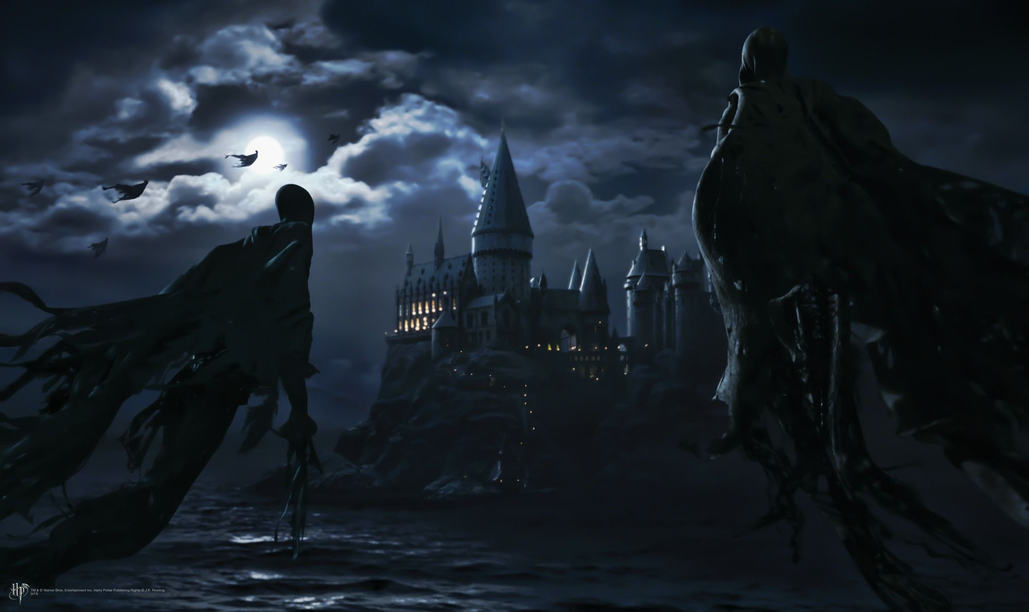 Dementors attack Hogwarts wallpaper mural Harry potter 2000x1191