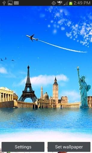 around the world live wallpaper travel around the world and visit nice 307x512