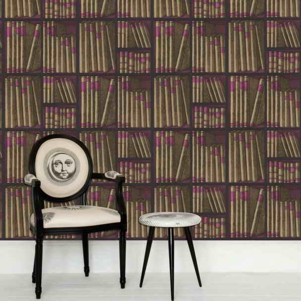 Wallpaper That Looks Like Books On A Shelf Small Wallpaper Looks 608x608
