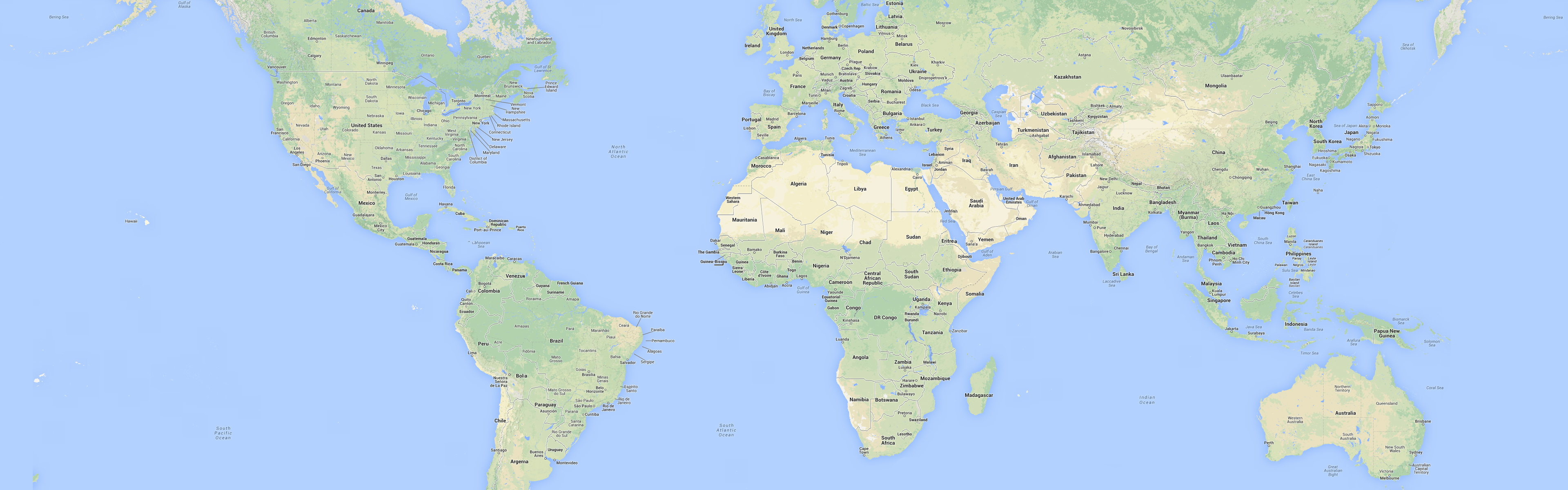tad bit smaller the world map HD wallpaper for dual screens at 3360 3840x1200