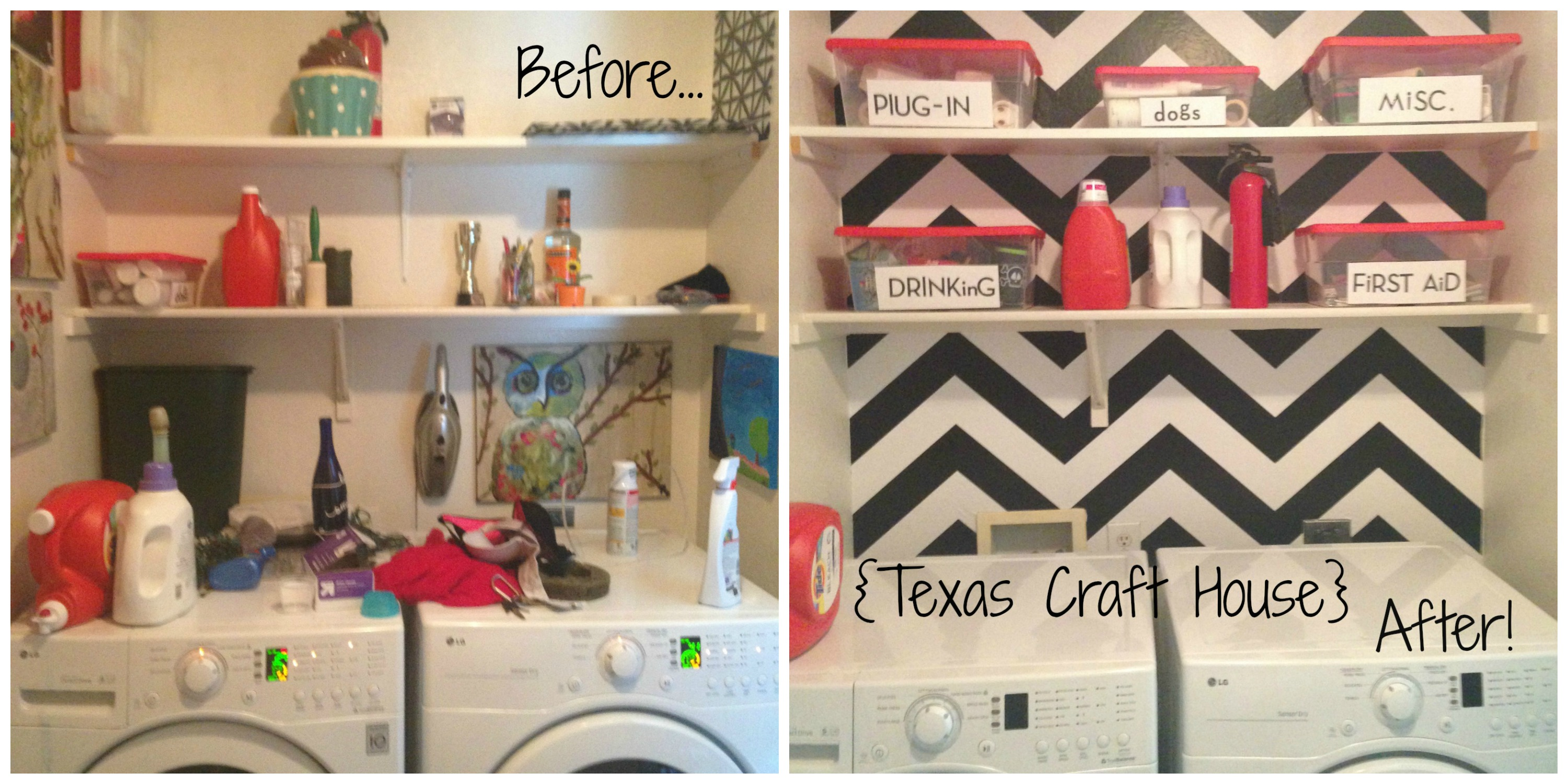 So here is an easy way I transformed my laundry room from a junky eye 3000x1500
