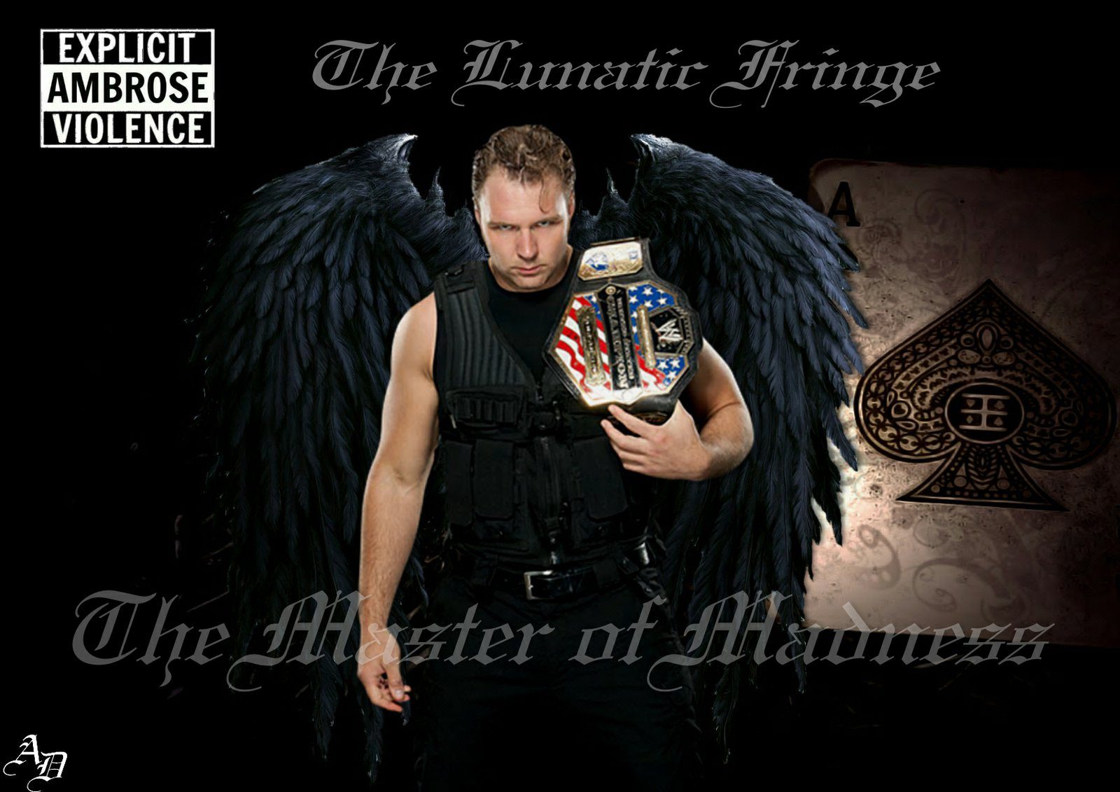 WWE Dean Ambrose Wallpaper by ShizuLeinXD 1600x1131
