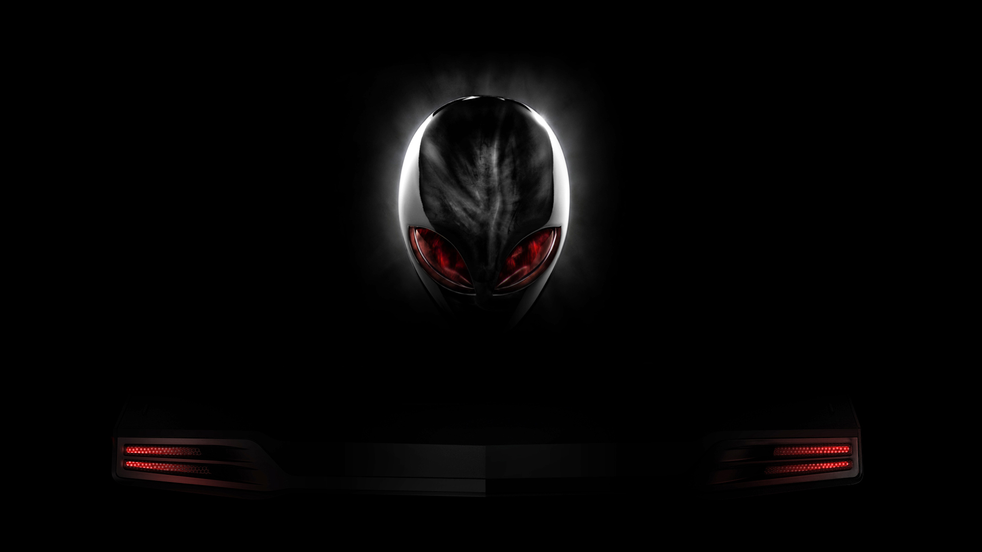 Red And Black Wallpaper 1080p Alienware red eyes logo black 1920x1080