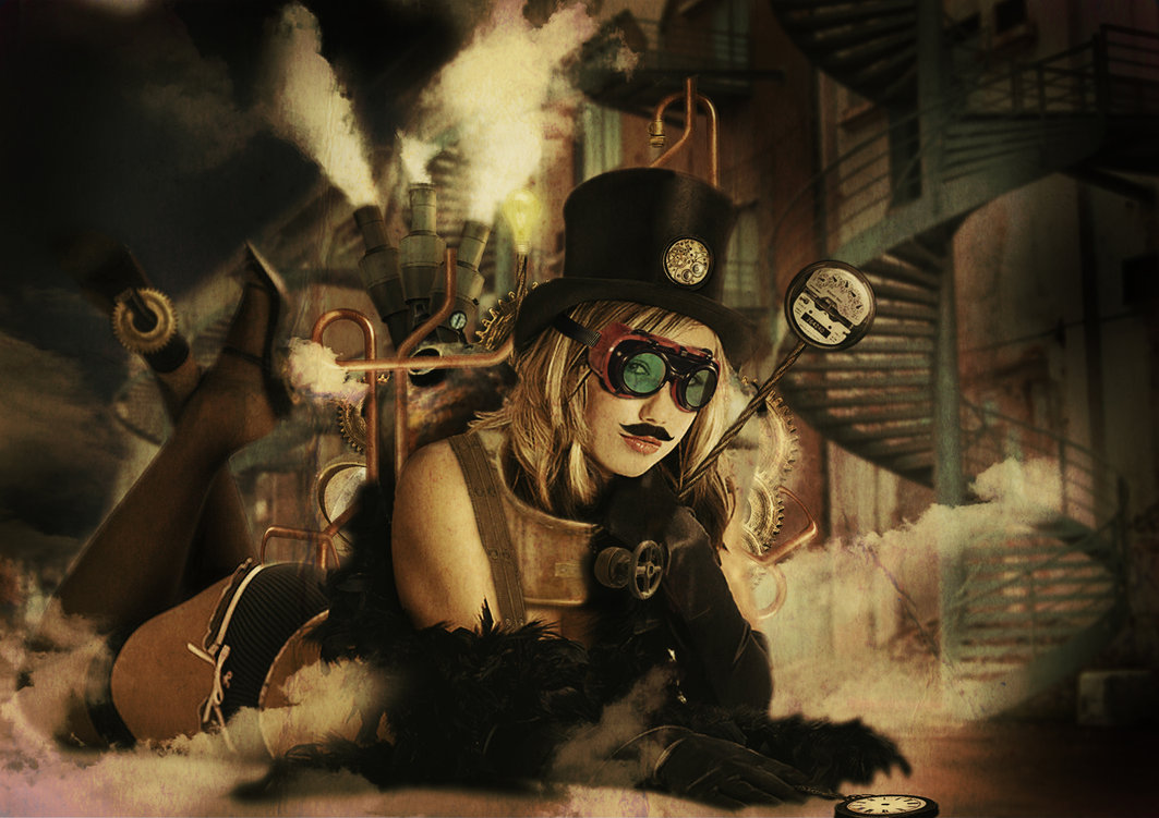Steampunk girl by jackodeco on DeviantArt