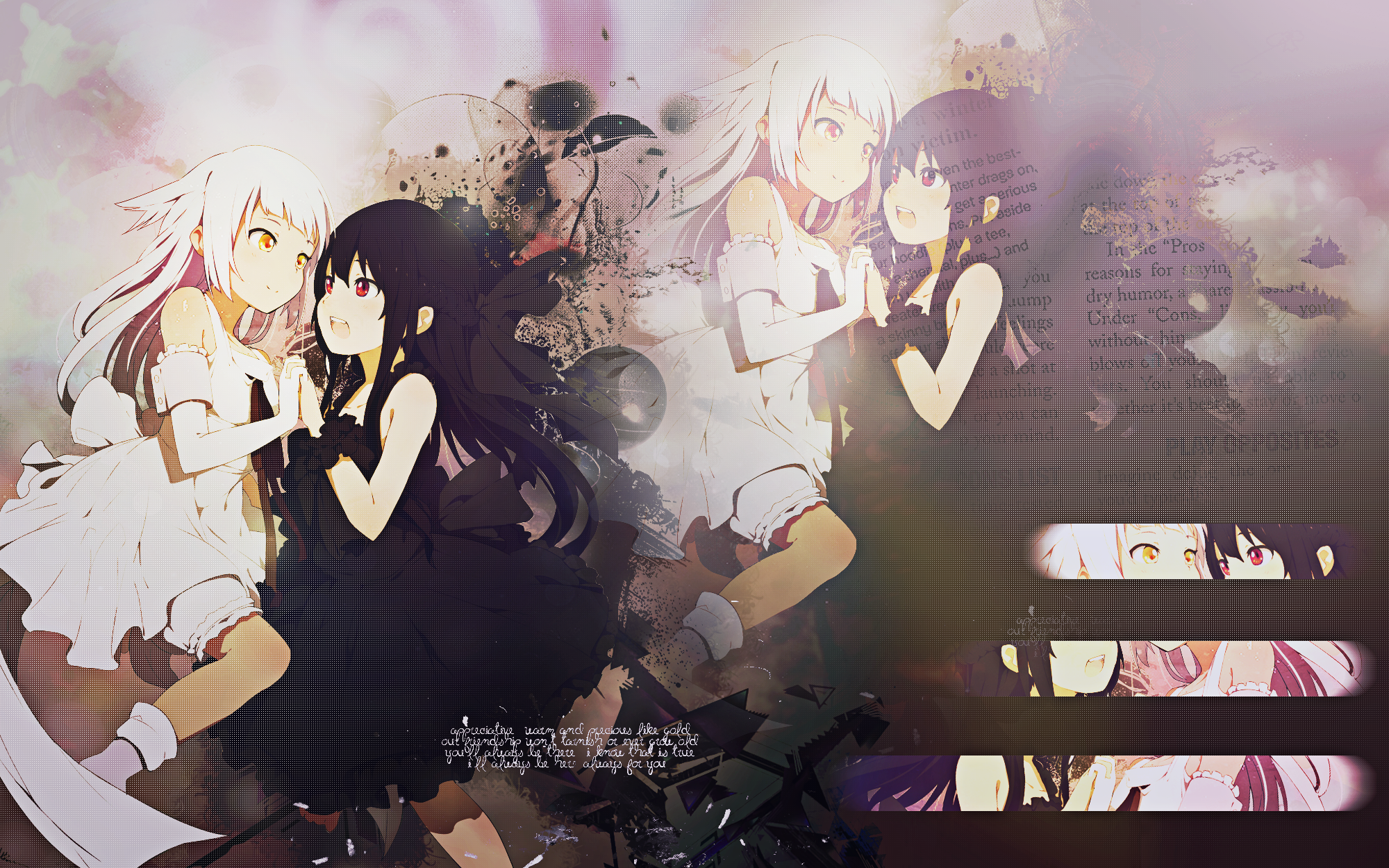 Wallpaper Anime Girls Black Buraku by Nagamii Chan 2000x1250