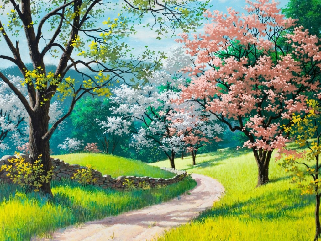 Pretty spring backgrounds and wallpapers wallpapersafari - Backgrounds springtime ...
