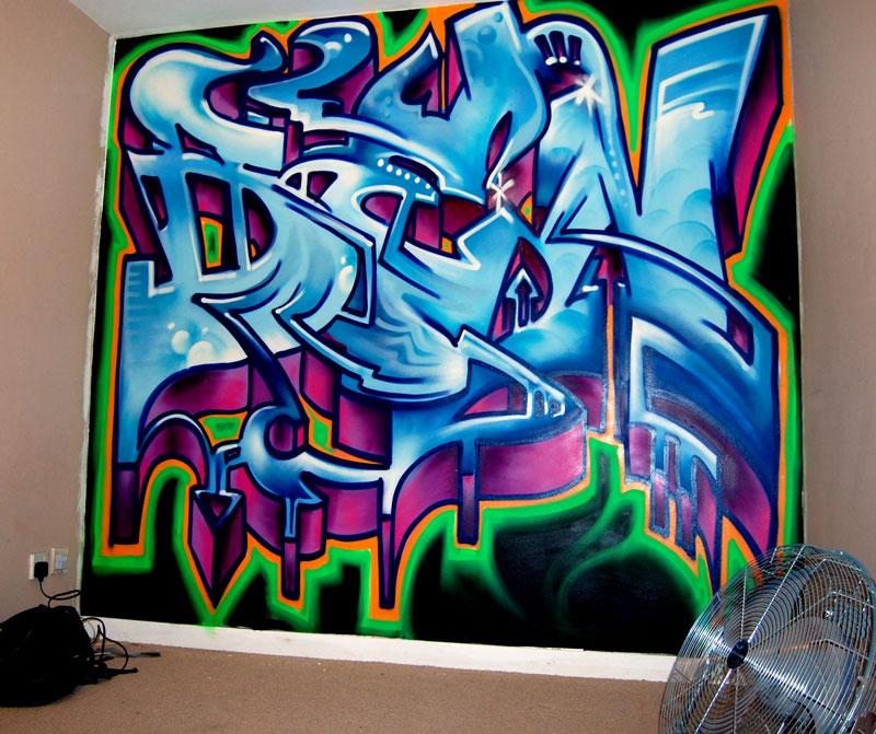 graffiti murals for bedrooms