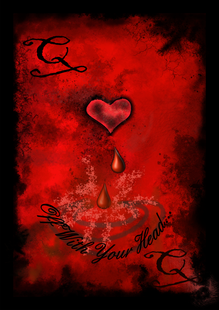 Queen of Hearts Playing Card by Undersea Sparrow 752x1063