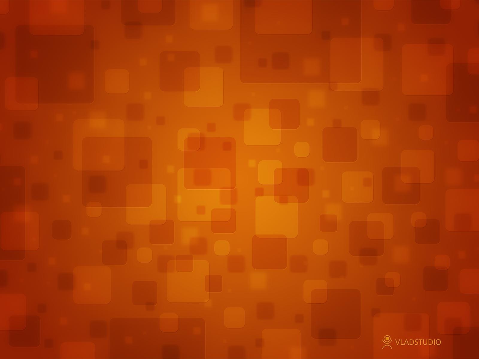Orange Design Wallpaper Squares orange 1600x1200