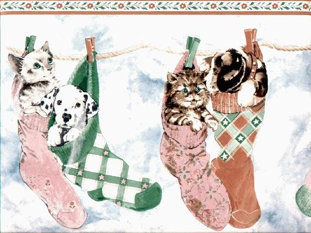 Cats and Dogs Wallpaper Border Roll   Traditional   Wallpaper   by 640x480