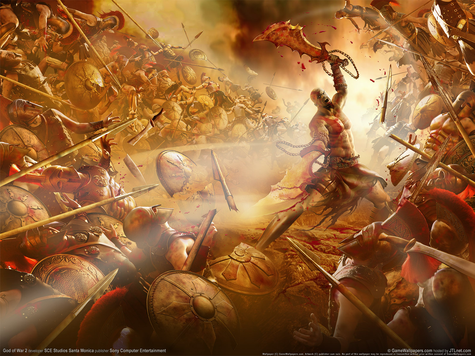 Free Download God War 2 Wallpaper Kratos Wallpaper Games 02