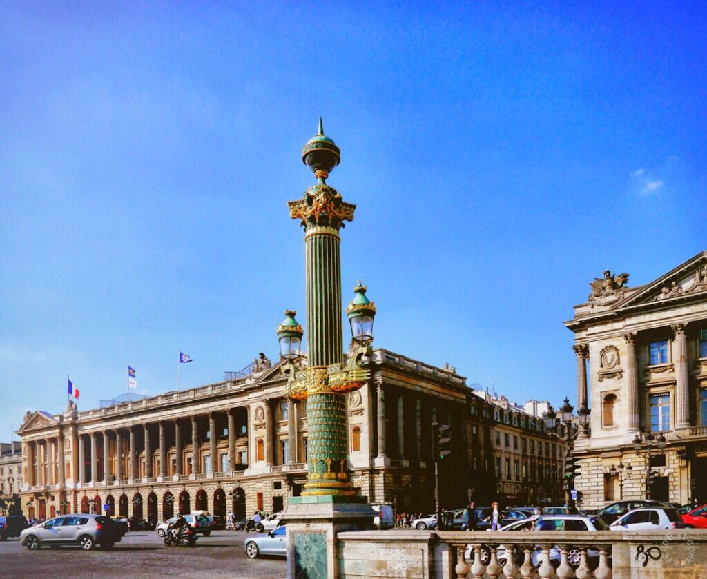 Neoclassical Lamp Post from 1836 with Htel Crillon in Background 1024x839