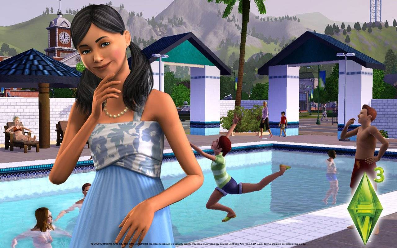 Sims 3 Wallpaper Wallpaper featuring sims from the sims 3 1280x800