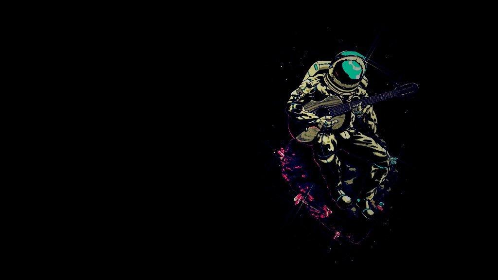 Cool astronaut wallpapers wallpapersafari for Outer space guitar