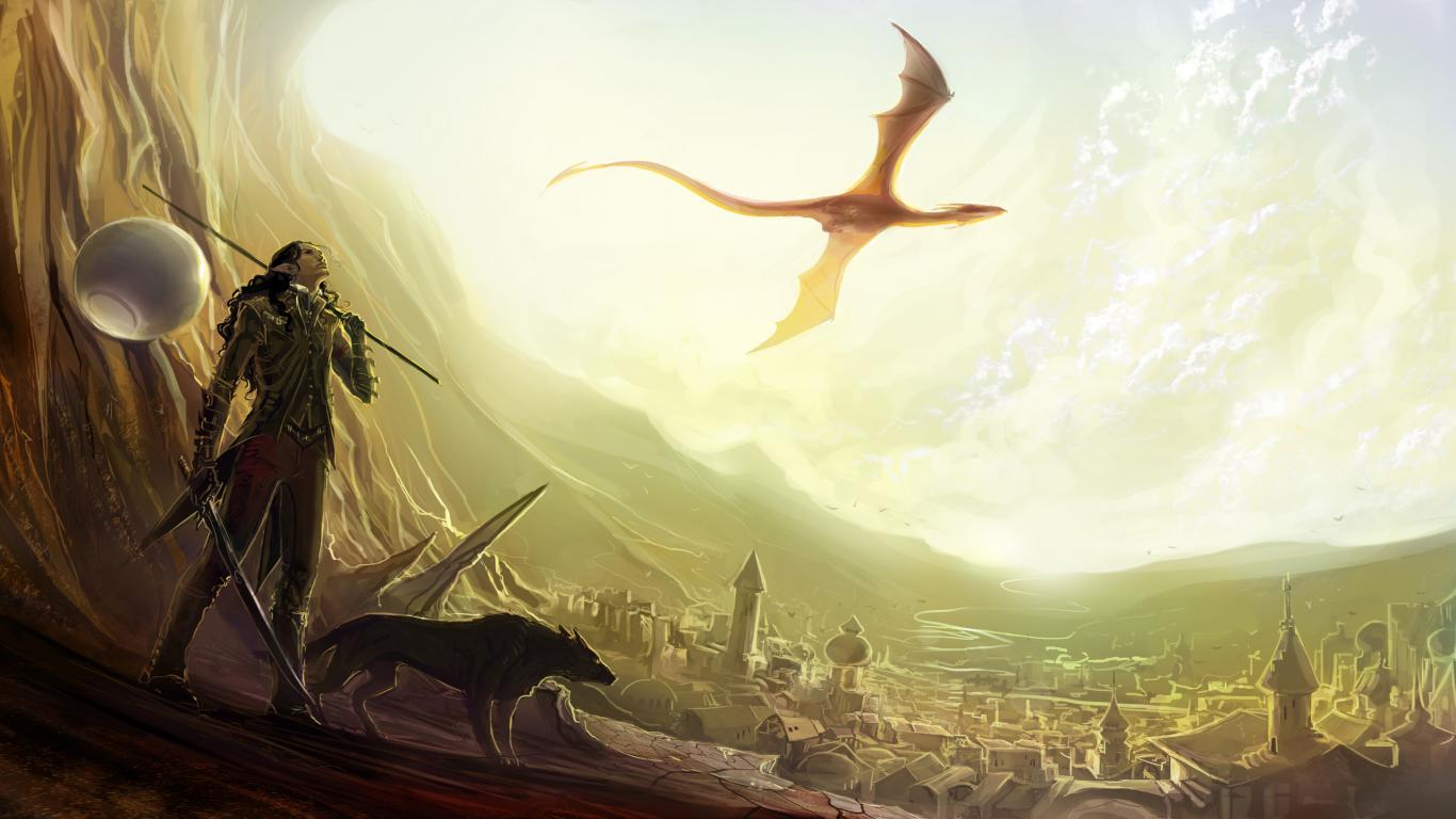 Flying Dragon Wallpaper 1366x768