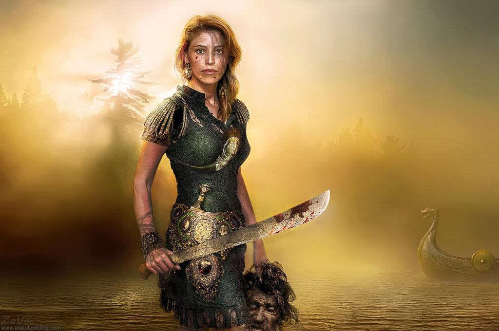Badass female warrior : pics