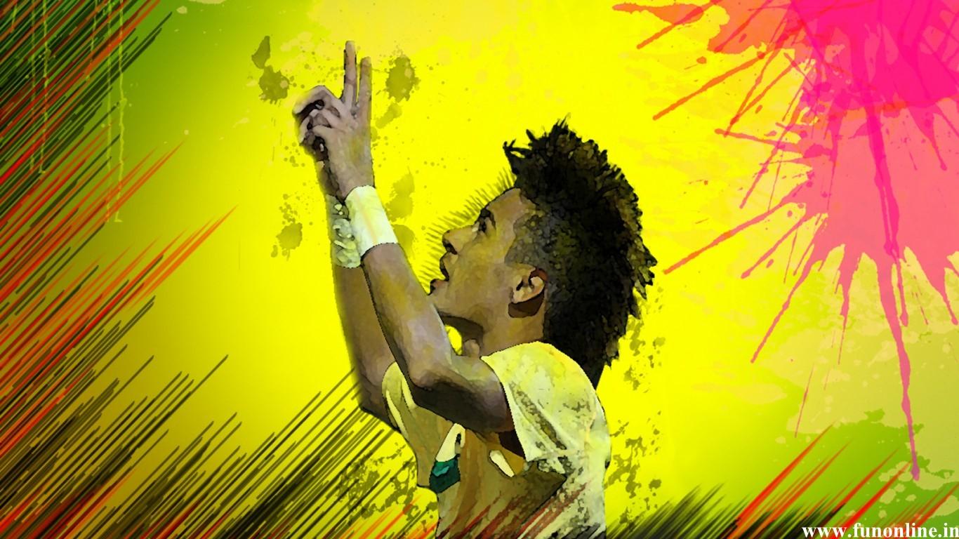 Neymar Wallpapers Awe inspiring Forward Neymars HD Wallpaper 1366x768