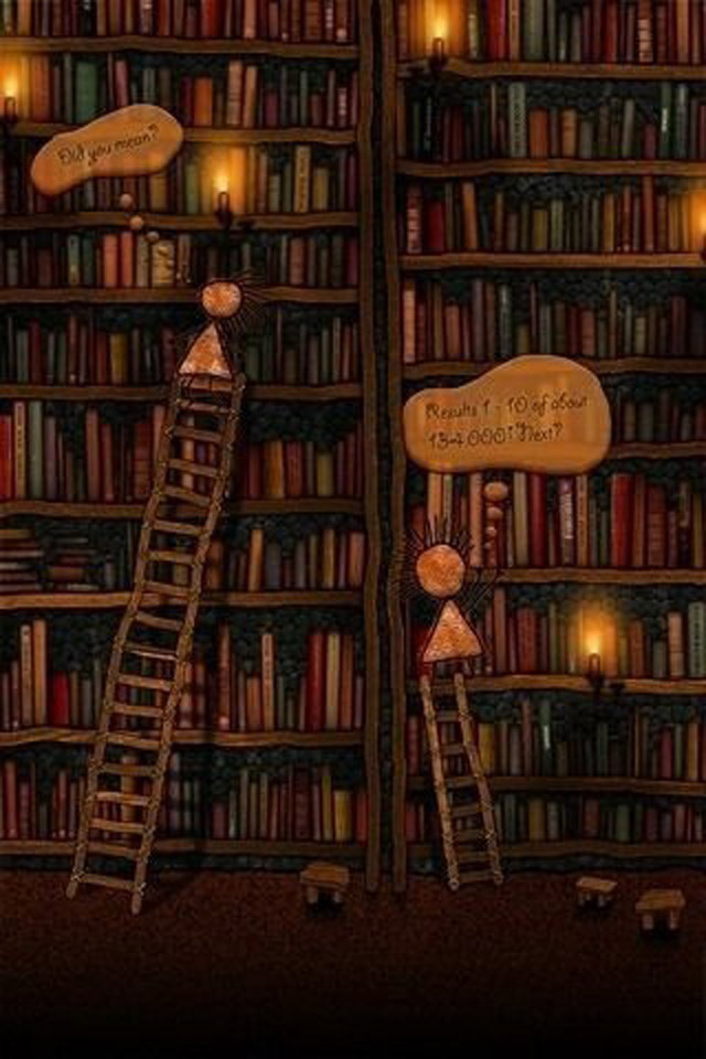 Bookcase Wallpaper Cake Ideas and Designs 640x960