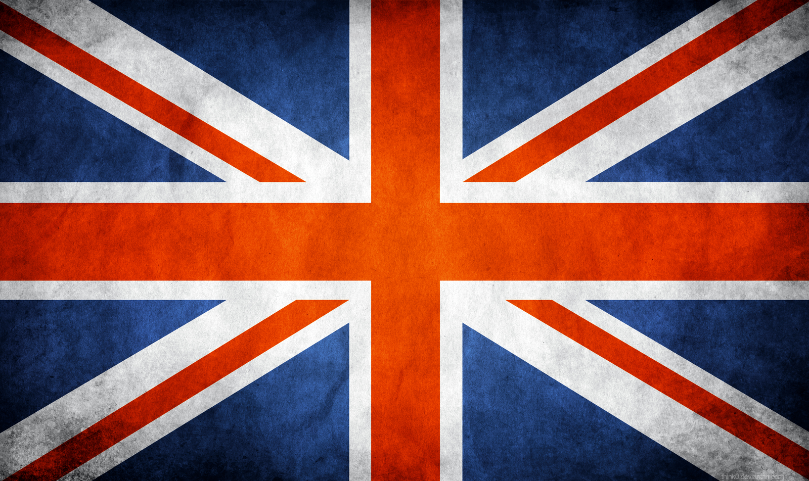 Great Britain UK Grunge Flag by think0 1600x952