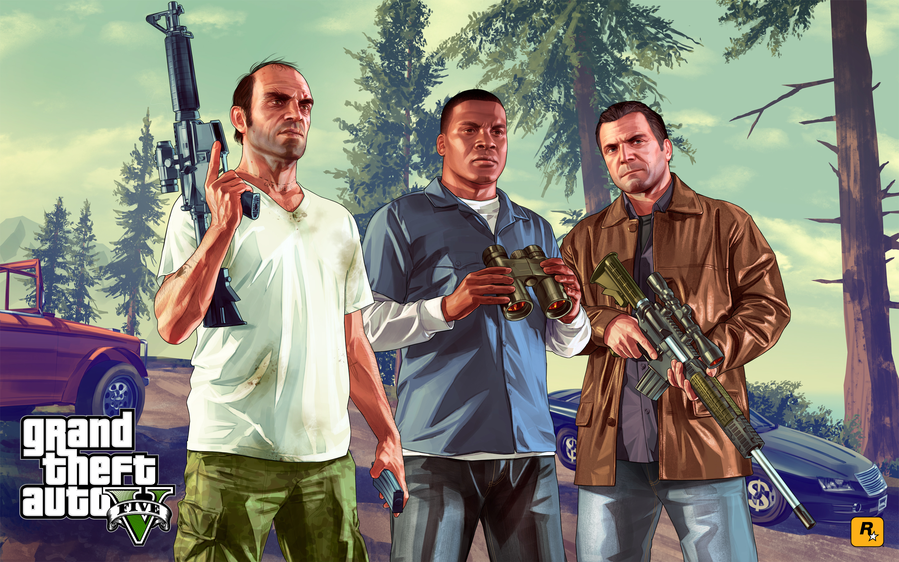 Cool GTA 5 Five Wallpaper Picture 9415 Wallpaper High Resolution 2880x1800