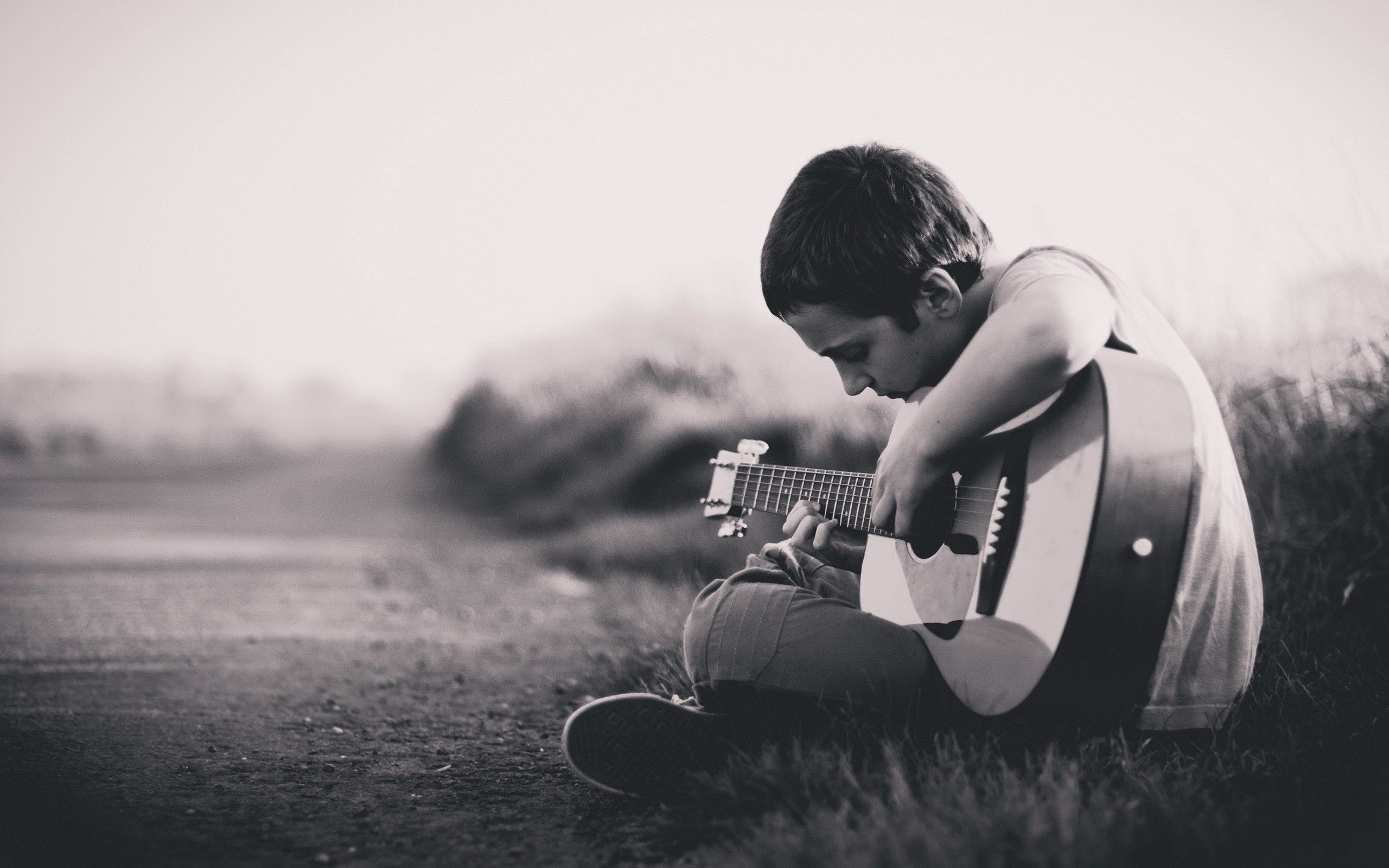 Lonely Boy Playing Guitar HD Images   New HD Wallpapers Altered 2560x1600