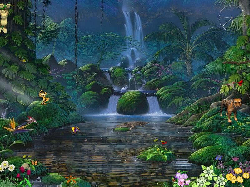 Animated Screensaver   Fascinating Waterfalls   FullScreensavers 800x600