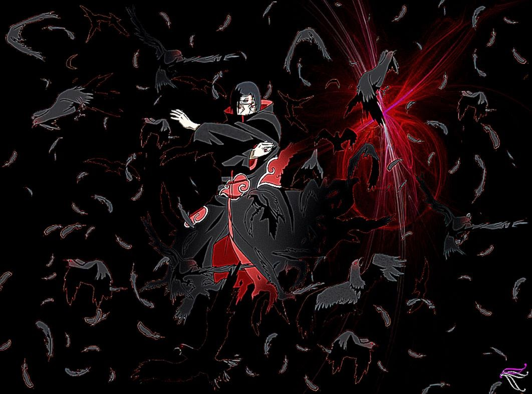 Uchiha Itachi Crow Wallpaper Hd Wallpaper Background 1062x787