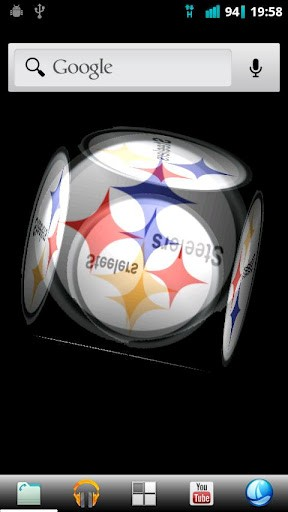 Steelers Cube Live Wallpaper SCREENSHOTS 288x512