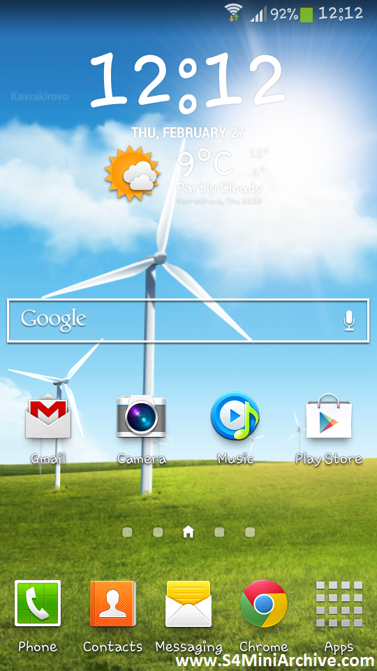 Samsung Windy Weather Live Wallpaper MEJOR CONJUNTO DE FRASES 540x960