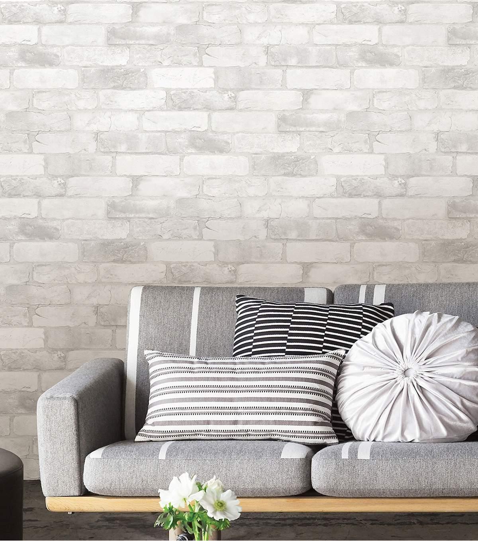 WallPops NuWallpaper 3D Peel Stick Wallpaper Brick JOANN 1200x1360