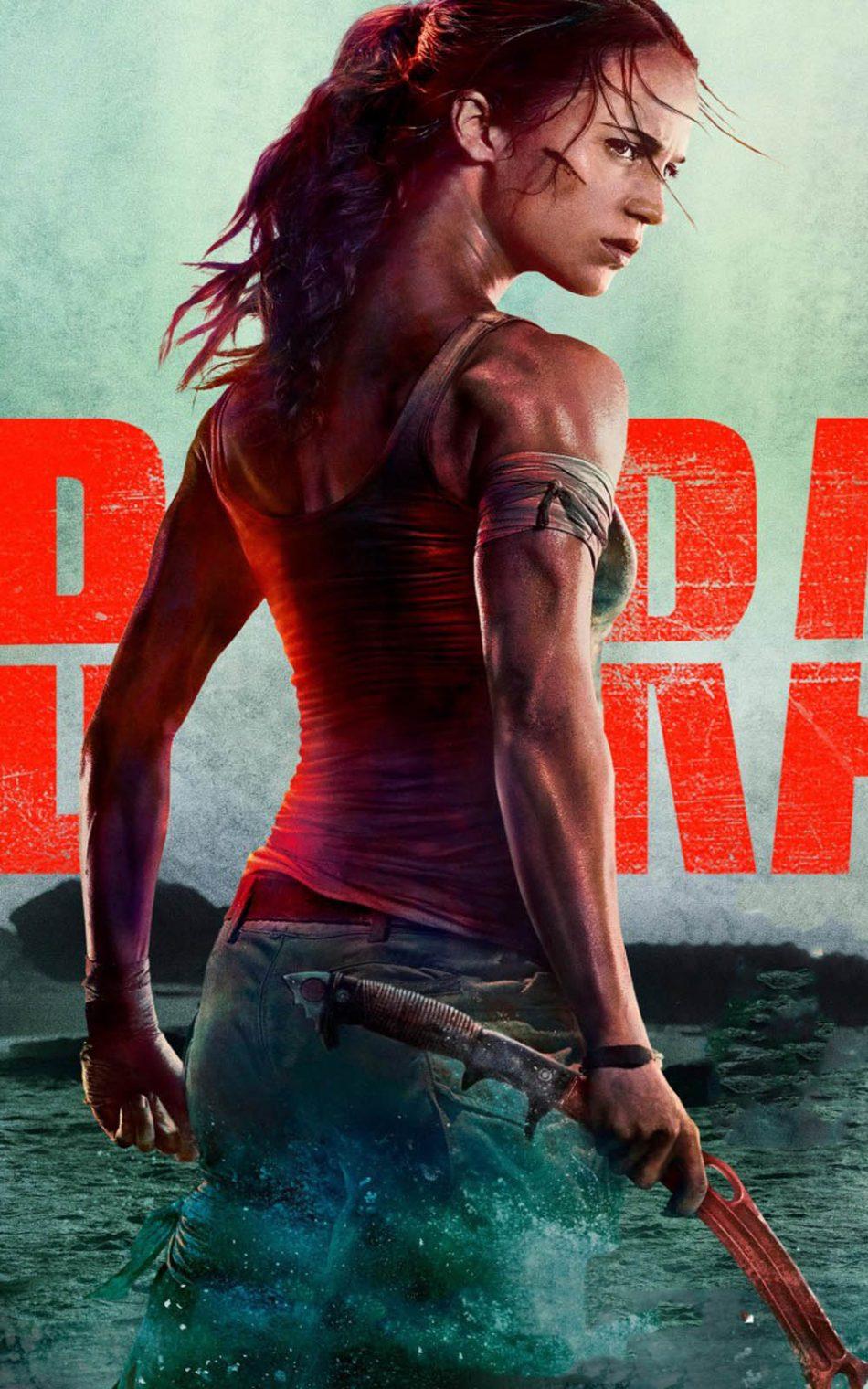 Download Alicia Vikander In Tomb Raider Pure 4K Ultra HD 950x1520