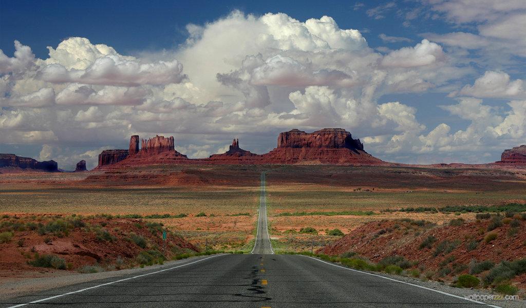Download Arizona Road Widescreen Wallpaper Wallpaper 1024x600