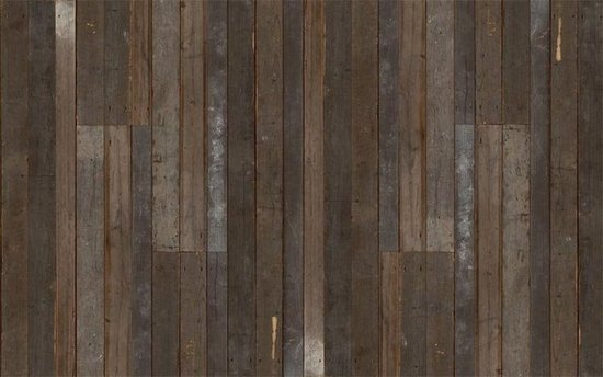 Get the look of eclectic wood paneling without the splinters with the 550x344