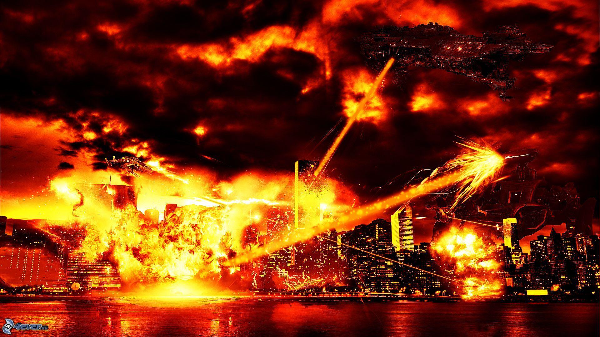 Destrtuction pictures Scifi fantasy art Apocalyptic 1920x1080