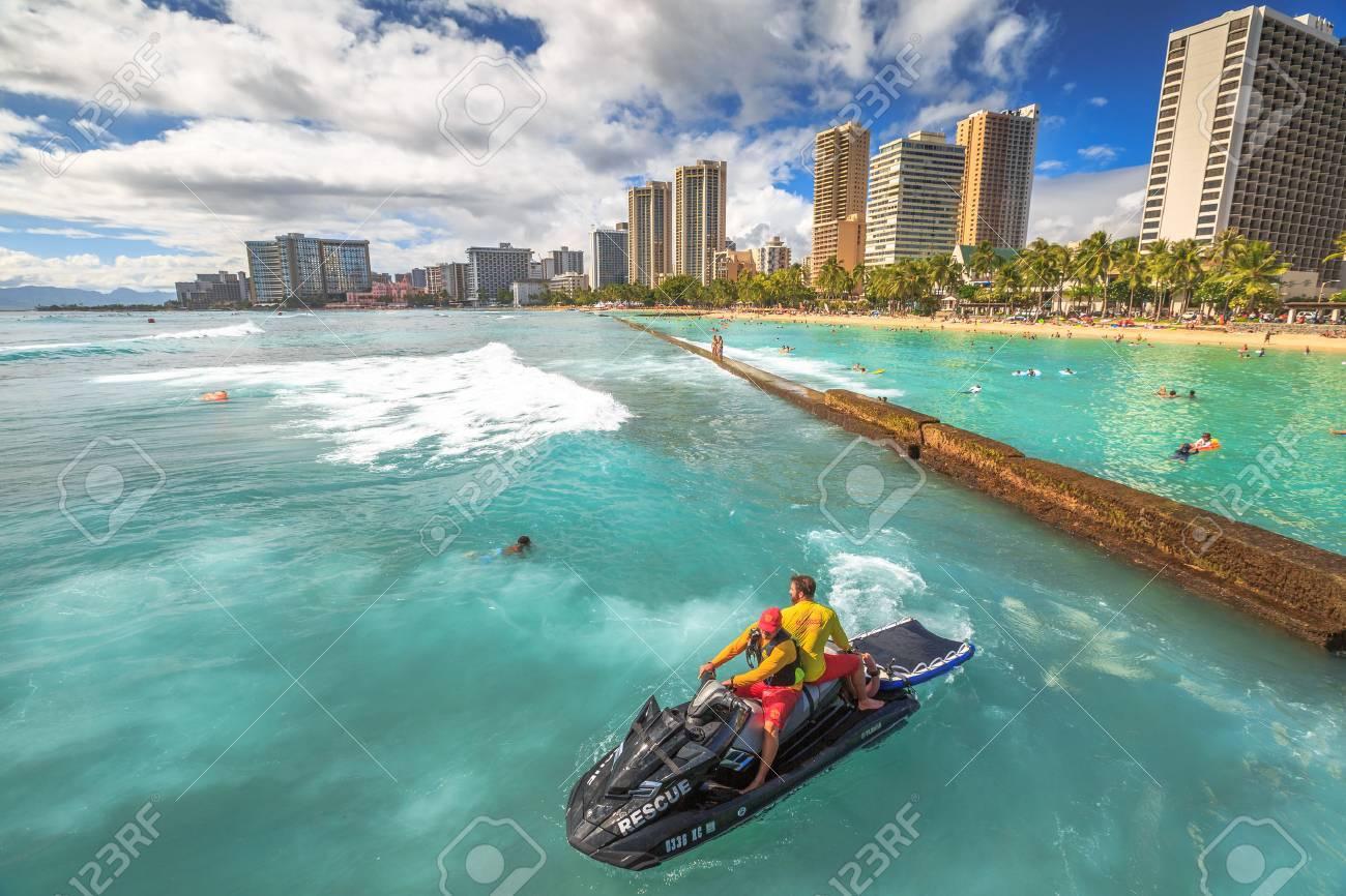 Waikiki Oahu HI   August 27 2016 Waikiki Beach Skyline In 1300x866