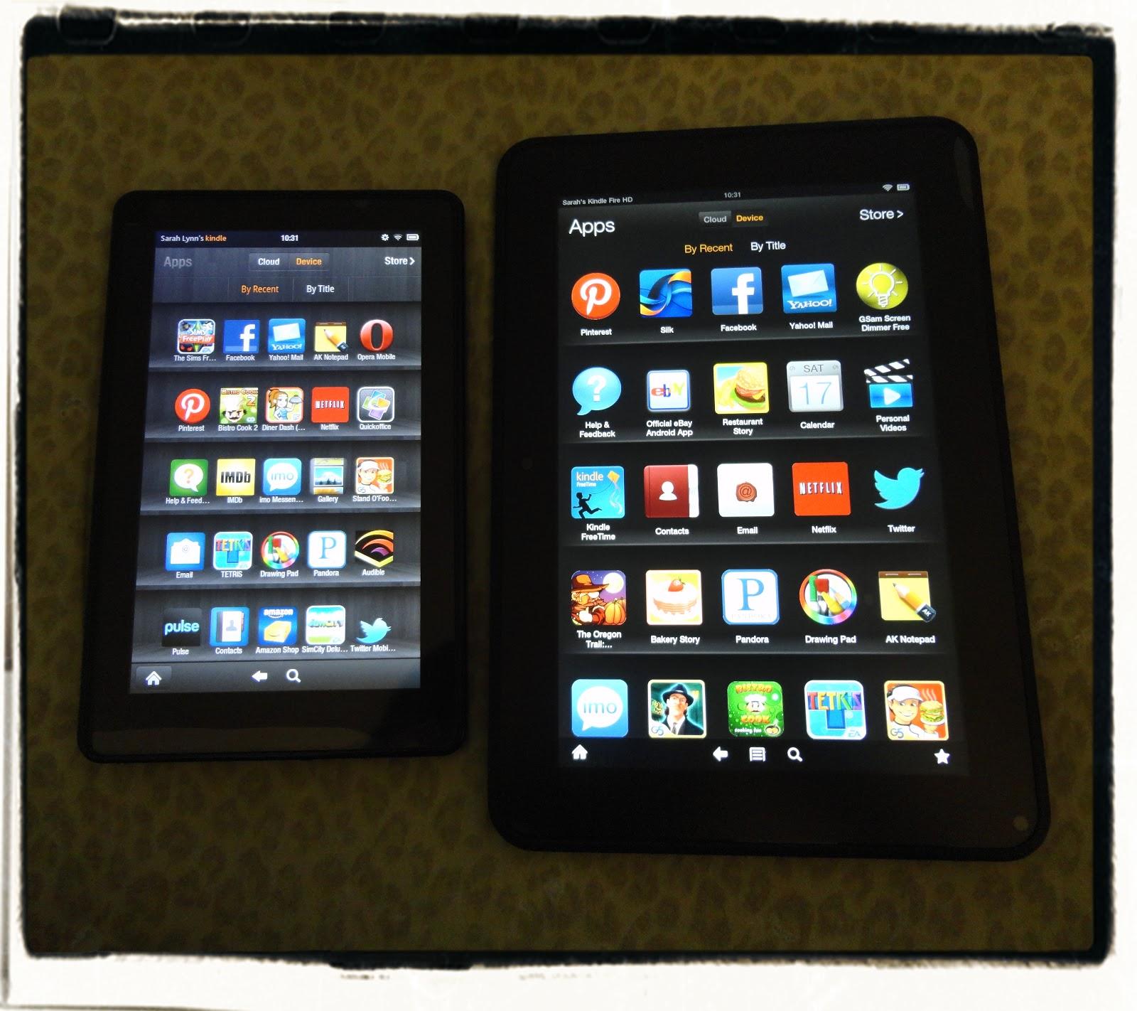 Kindle Fire Size Comparison Image 1600x1422