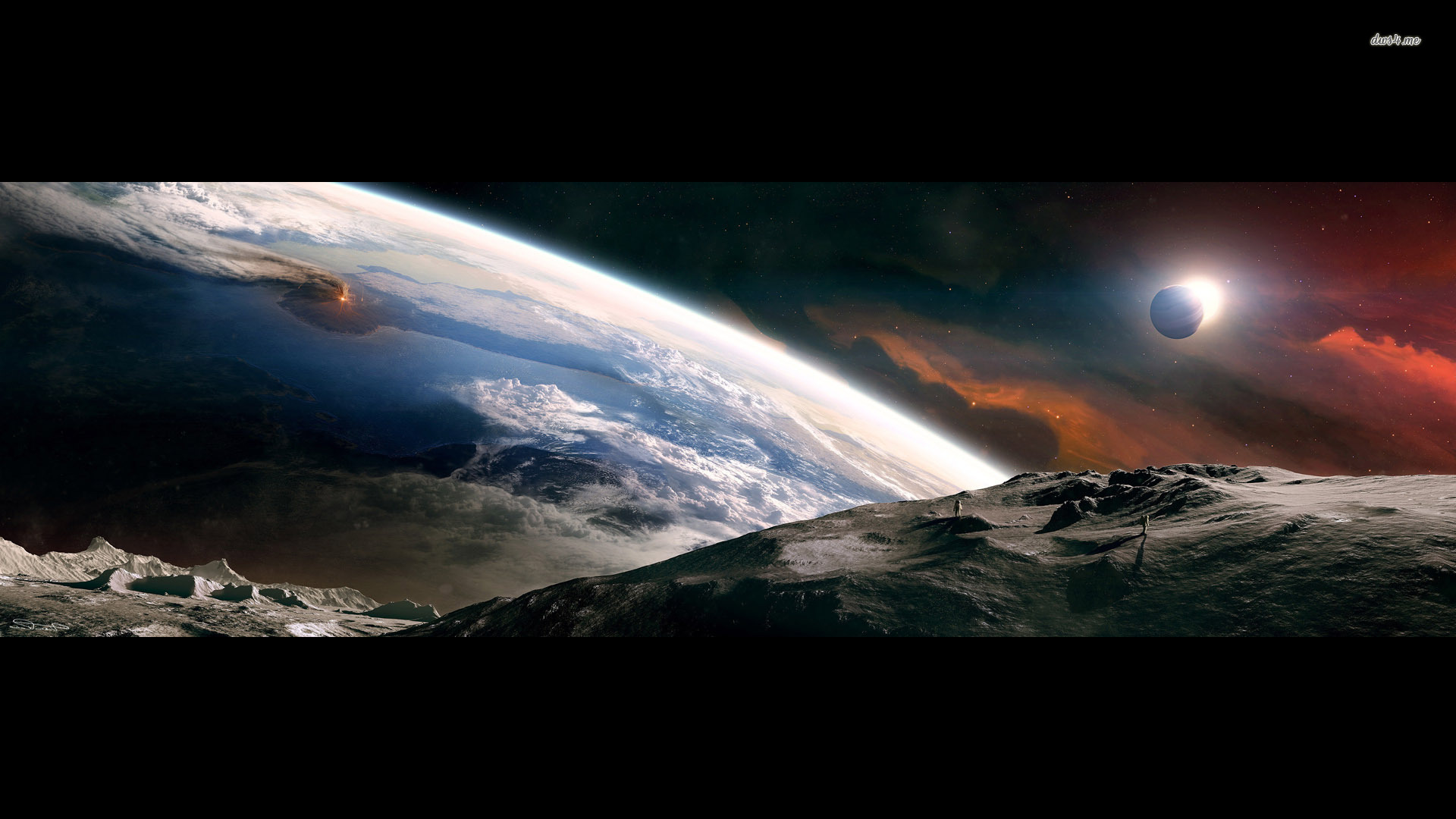 fantasy Earth from space wallpaper 1920x1080
