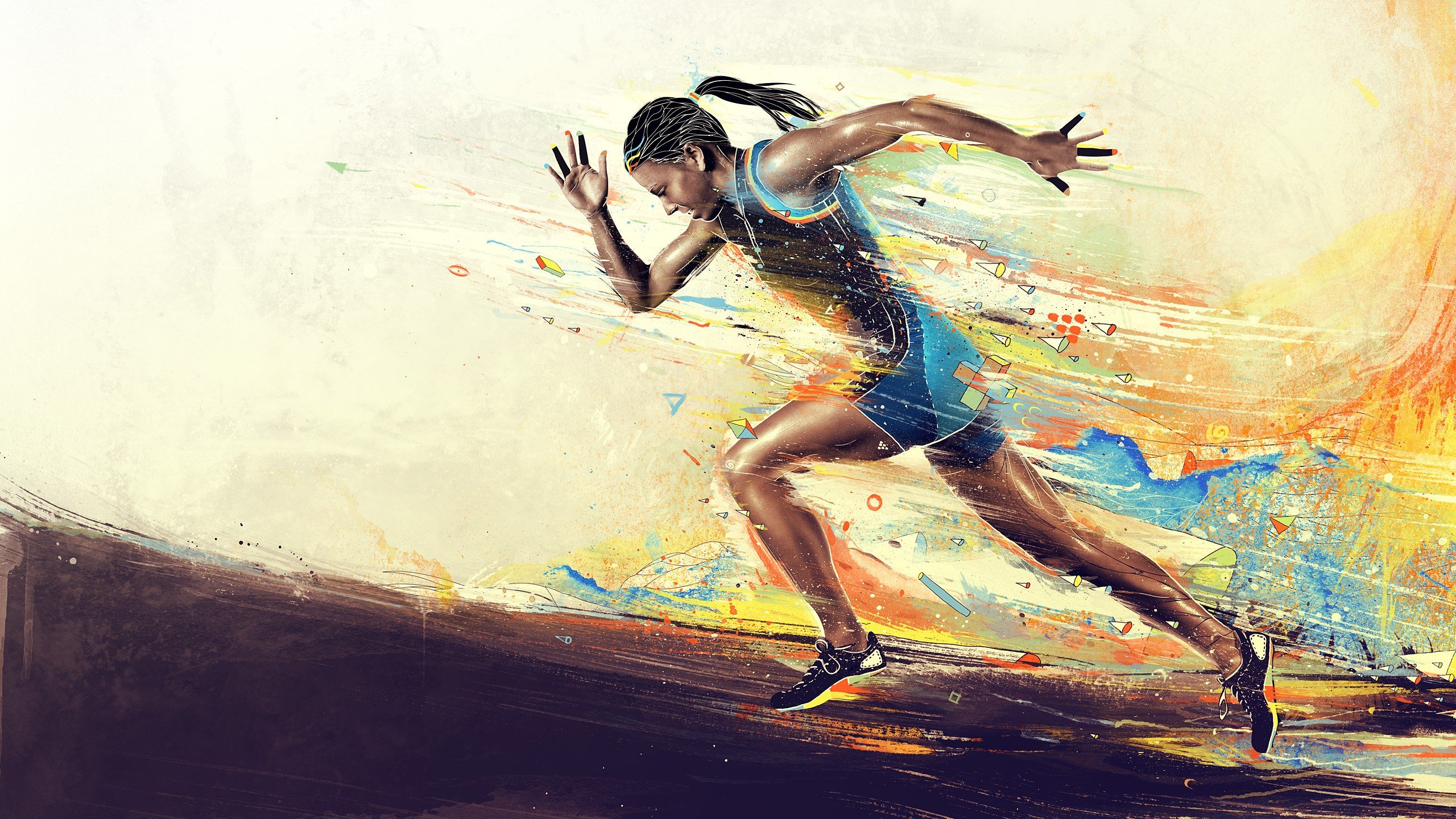 2560x1440 Woman Running desktop PC and Mac wallpaper 2560x1440