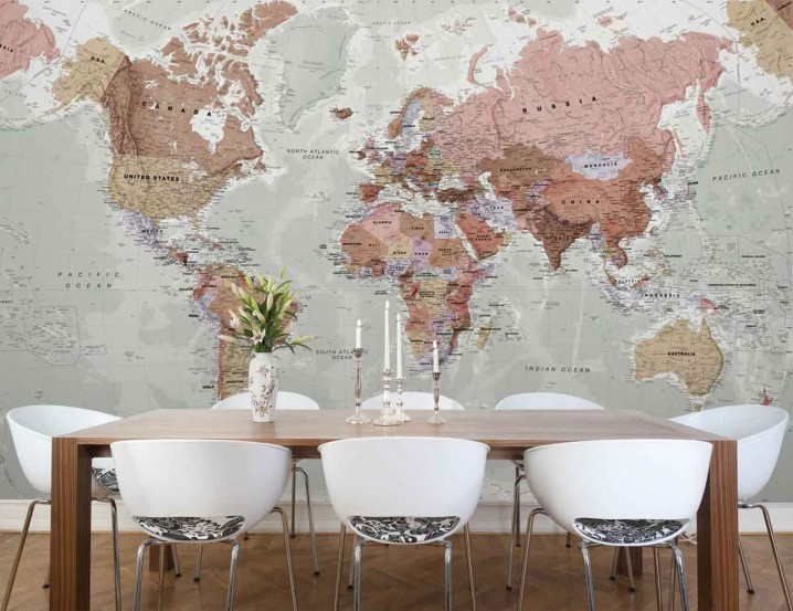 Map Wallpaper The Most Interesting Wall Decoration for Your House 718x553