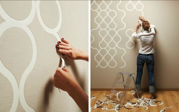 Peel off modular wallpaper by ZNAK home Pinterest 576x360