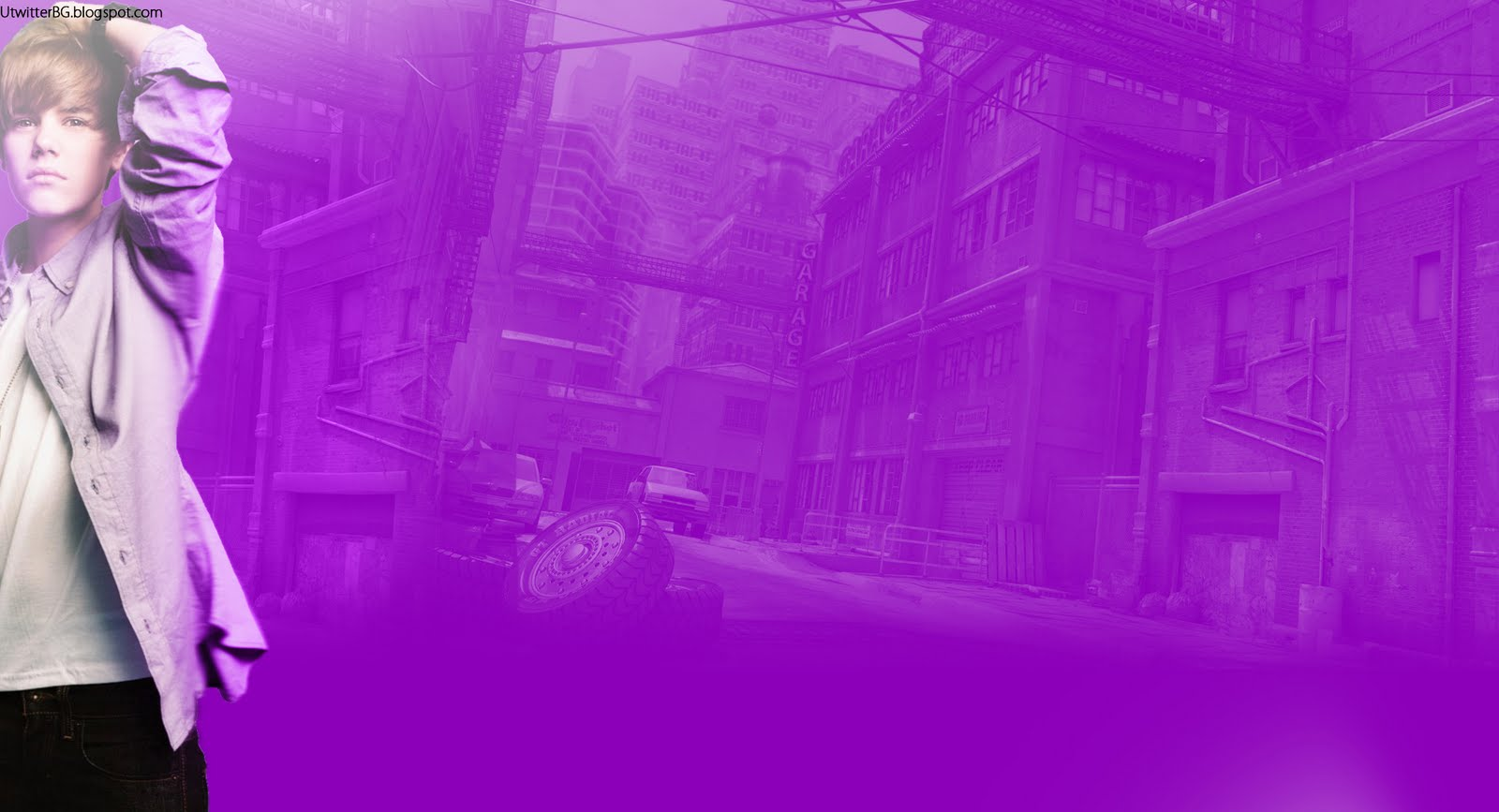 Justin Bieber purple Twitter theme Urban Twitter 1600x867