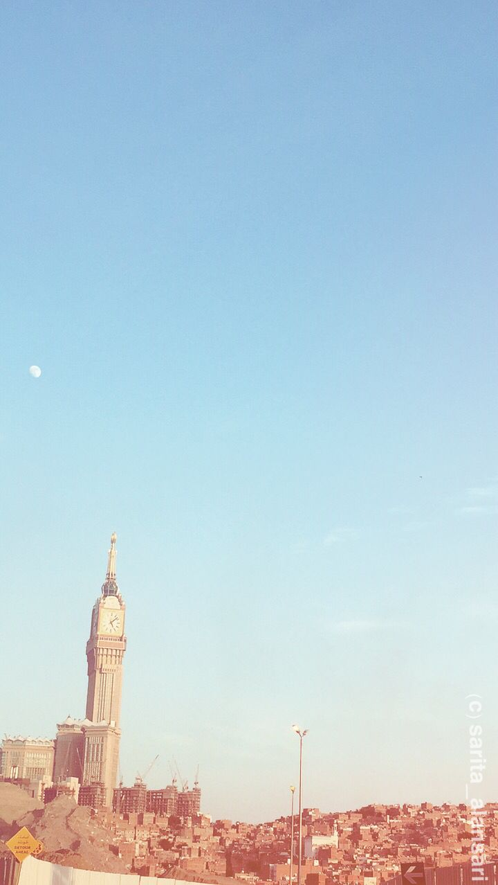 iphone background Makkahs clock tower and skyline mecca 720x1278
