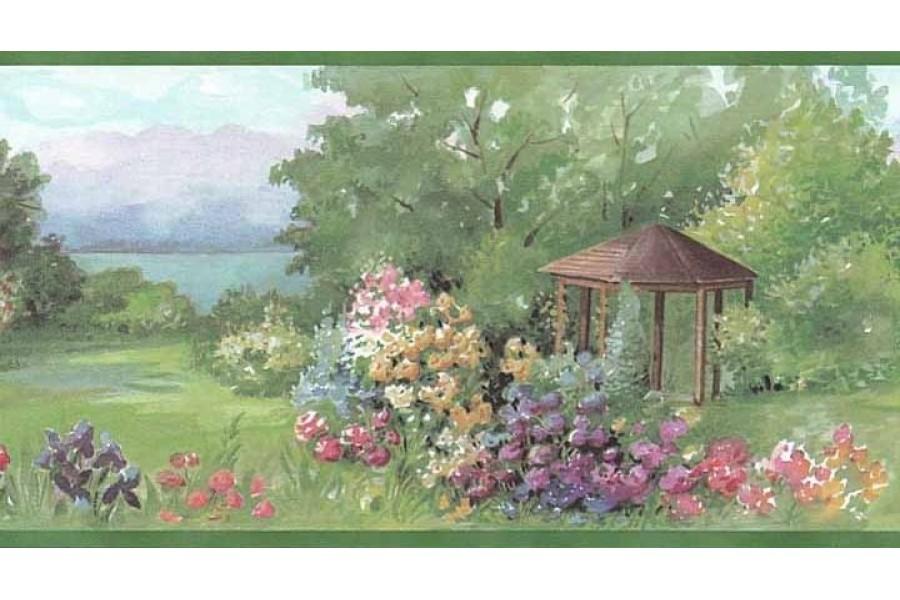 Green Country Wallpaper Border 900x600