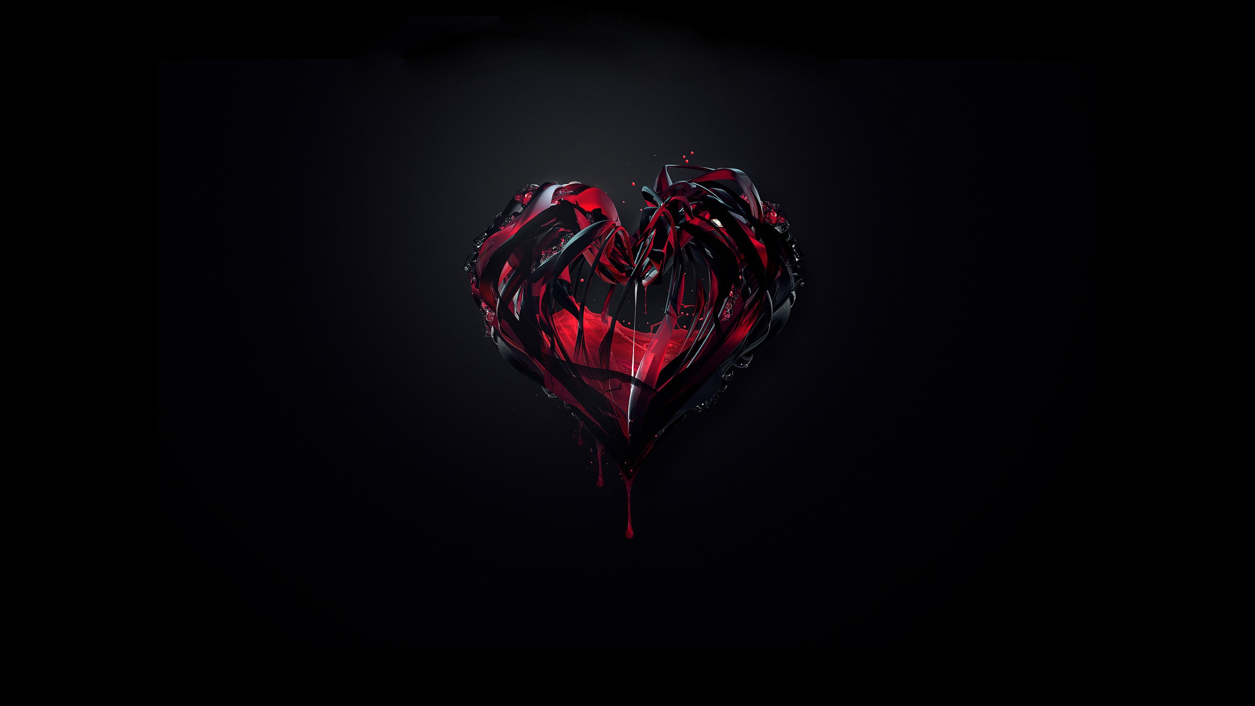 Love Black Wallpaper 2560x1440 Love Black Hearts 2560x1440