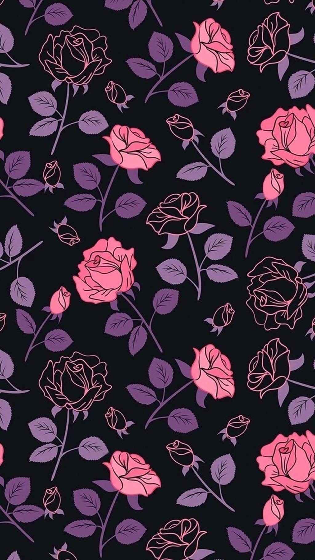 Free Download Real Dark Floral Iphone Wallpapers Top Real Dark