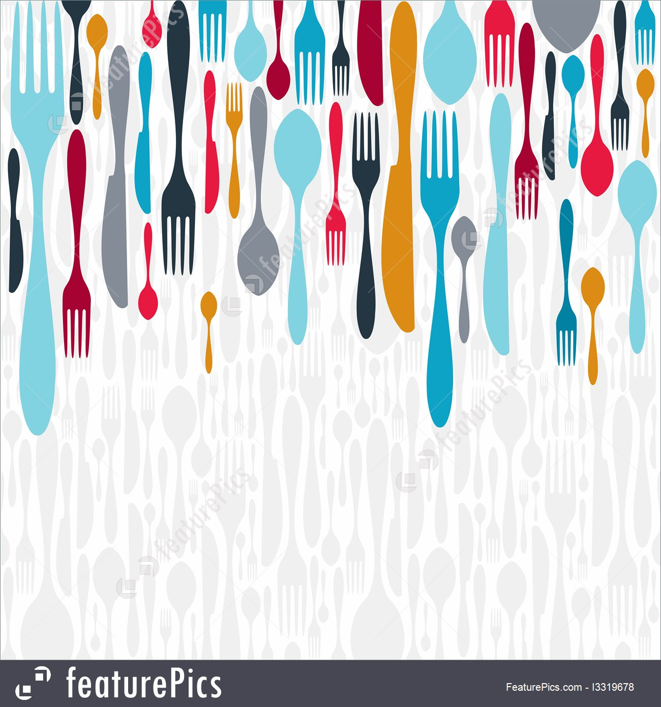 Cutlery Silhouette Icons Background 1300x1391