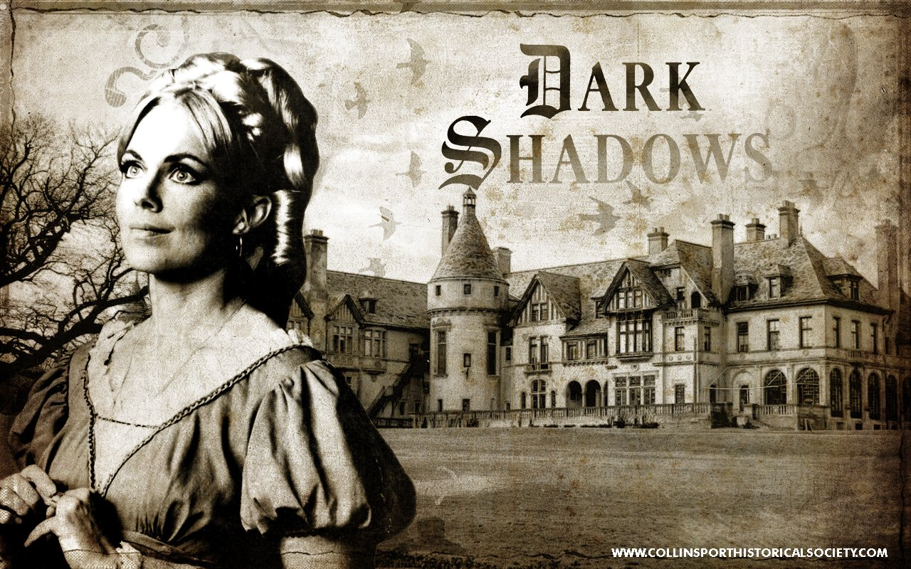 Desktop wallpaper of Lara Parker as the witch Angelique sized for 1280x800