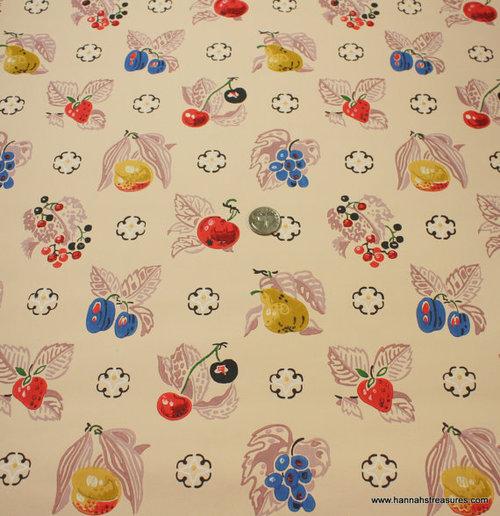 1940s Vintage Wallpaper Fantastic Fruit Pear by HannahsTreasures We 500x516