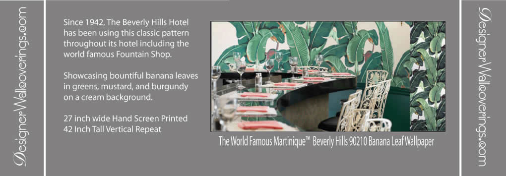 Beverly Hills Martinique Wallpaper and Fabric The Original Beverly 1020x355