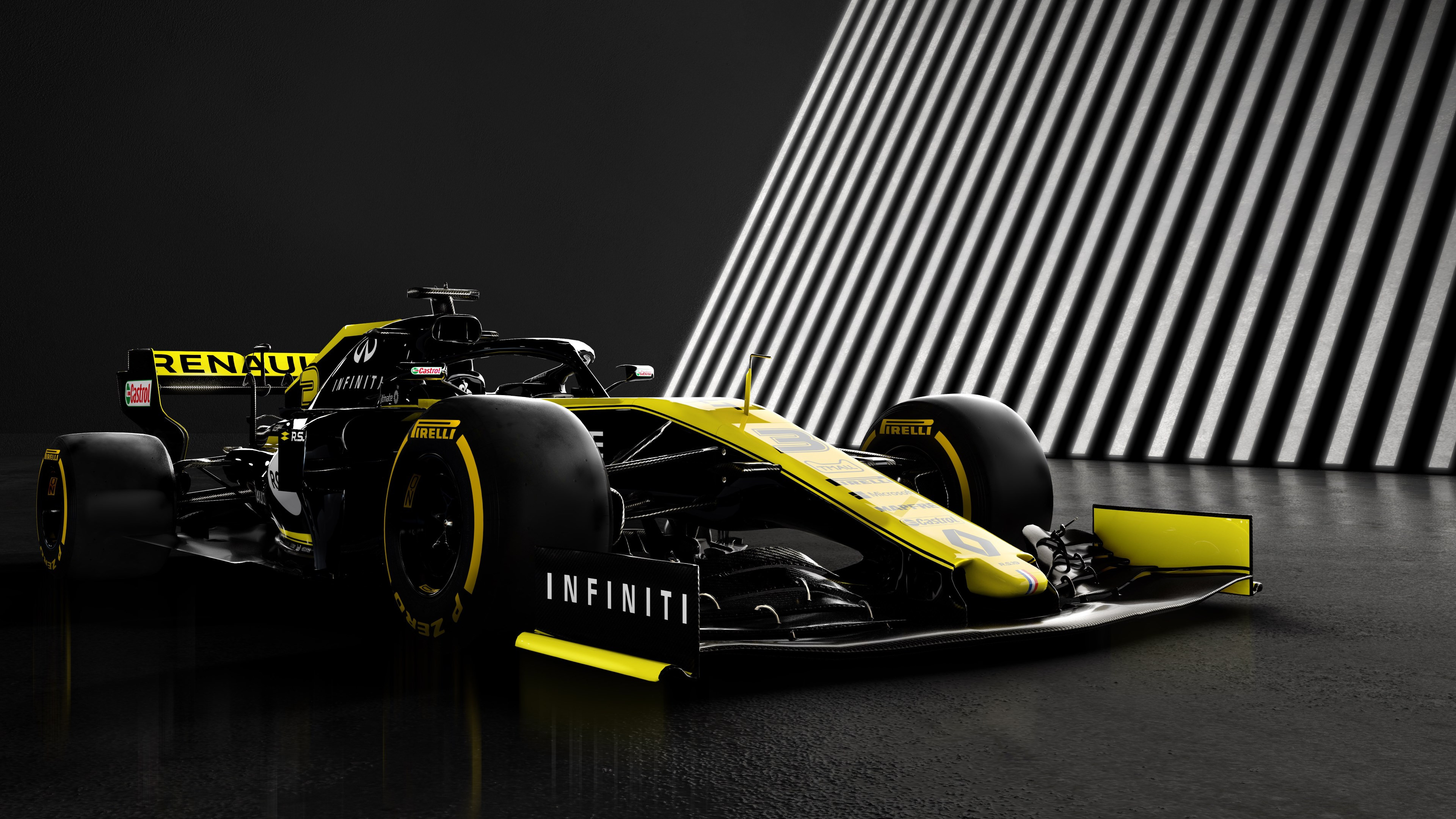 Download wallpaper Renault F1 RS19 3840x2160 3840x2160